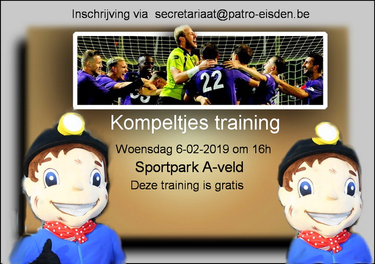 Patro Eisden Kompeltjes trainingsinfo photo