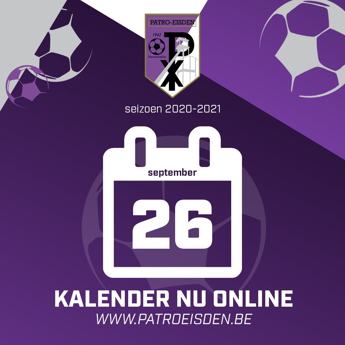 Kalender 1ste nationale 2020-2021 photo